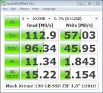 Mach Xtreme 120 GB - CrystalMark 3.0.1